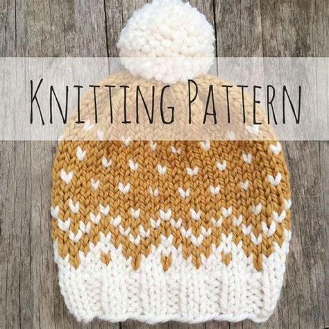 knit fair isle mountain toque knitting pattern fair isle fair isle