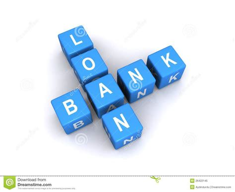 Loan Letters Crossword Puzzle Clue Bank Loan Sign Royalty Free Stock Photo Image 26422145