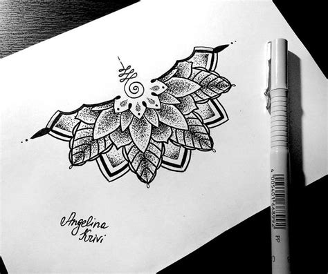 mandala tattoo half the gallery for gt black lotus mandala tattoo
