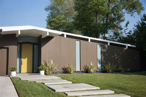 Eichler House by Modern Concrete Paver Walkway Ideas