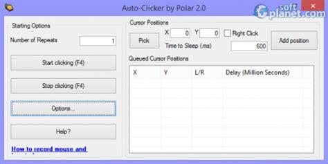 Auto Clicker 2 0 Free Download by Polarbytes Auto Clicker Free Download For Windows Softplanet