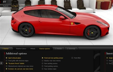 Ferrari Config by The Ferrari Four Configurator Is Live Torque News