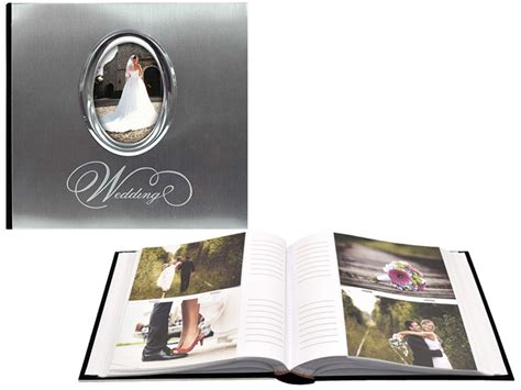 Wedding Album 4x6 by Mbi Silver Metal Wedding Photo Album For 4x6