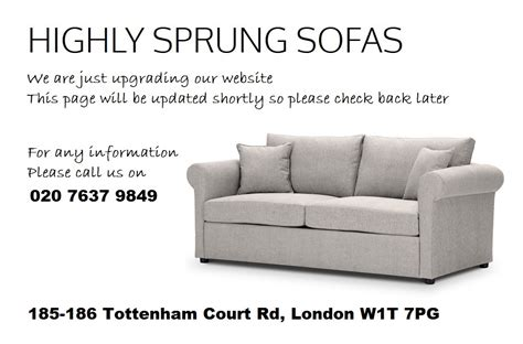 Highly Sprung Sofas by Highly Sprung Sofas Updating Banner 2 Highly Sprung