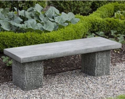 stone benches outdoor cania international reef point cast stone backless