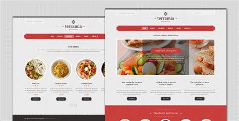 themeforest restaurant terramia classic restaurant wordpress theme by