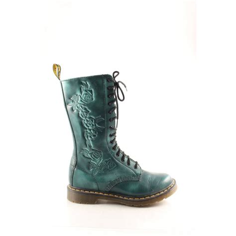 flower pattern shoes uk dr martens lace up boots petrol dark green flower pattern