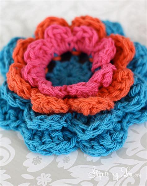 crochet flower headband skip to my lou