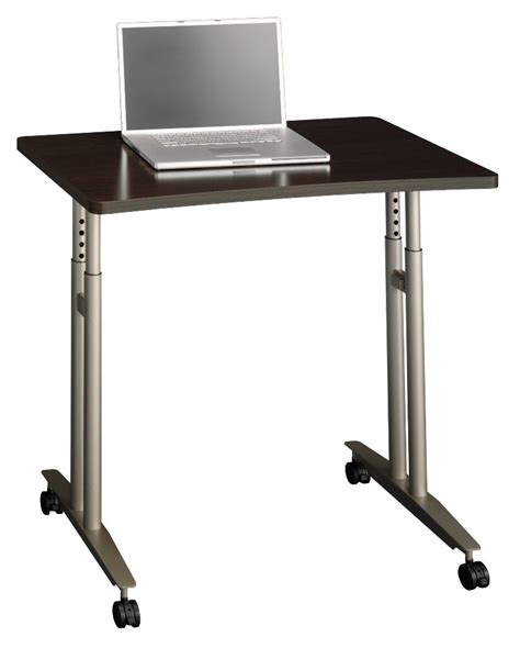 adjustable height c table series c mocha cherry adjustable height mobile table from
