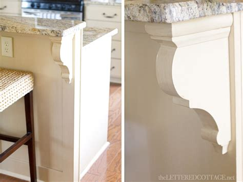 corbels for kitchen island country kitchen island the lettered cottage