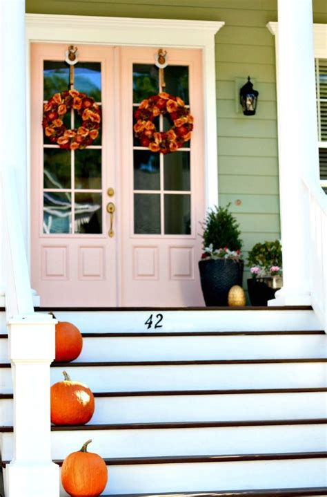 Pink Front Door Paint 17 Best Images About Curb Appeal On Shrubs Creative Ideas And Fall Front Porches