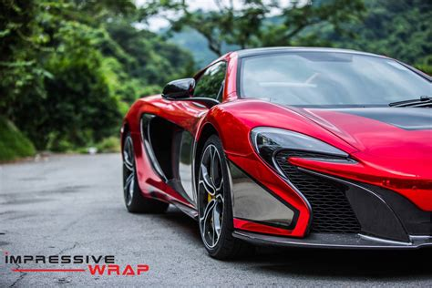 red chrome red chrome mclaren 650s spider by impressive wrap