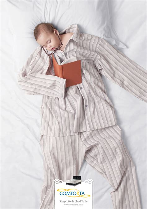 Bed Comforta Sweet comforta mattress ad featuring babies sleeping in clothes
