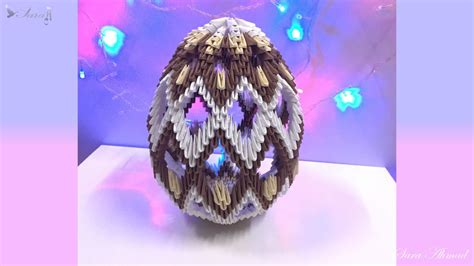 How To Make Origami Easter Eggs - how to make 3d origami easter egg
