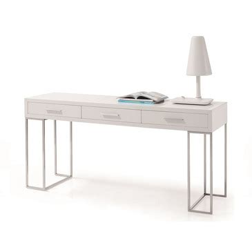 High Gloss White Office Desk J M Furniture Sg02 Modern Office Desk In White High Gloss Beyond Stores