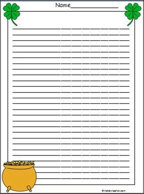 march printable stationary this is a leprechaun s pot of gold writing stationary with