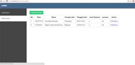 membuat aplikasi crud dengan php mysql cara mudah membuat crud php native demam sinau