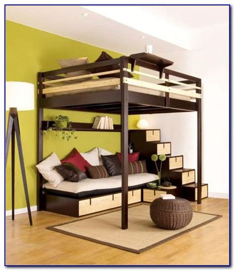 lofted queen bed queen size loft bed frame plans 19 cool adult loft bed