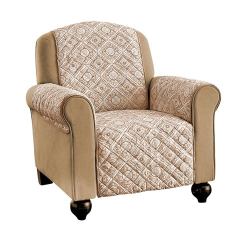 Quilted Recliner Covers Reversible Adalyn Quilted Furniture Protector Cover