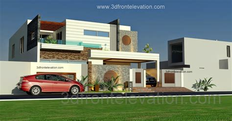 3d front elevation com beautiful contemporary house 3d front elevation com 1 kanal beautiful modern house