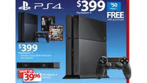 Auto Deals Black Friday 2014 Sony Ps4 With Free 50 Gift Card Advertised In Walmart