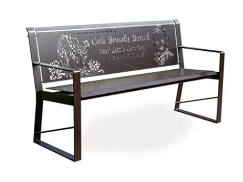 metal memorial benches benches quality site furniture