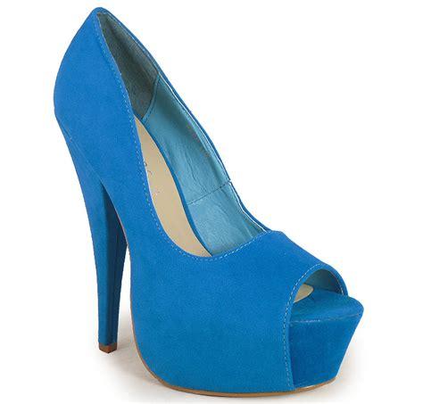 womens turquoise peeptoe high heel shoes siz 3 8 ebay