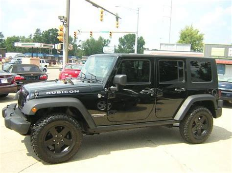 jeep rubicon all black purchase used all black 2010 jeep wrangler unlimited