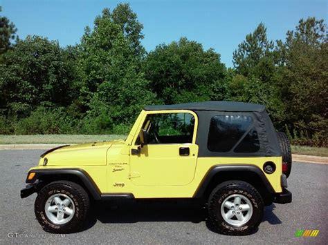 2001 solar yellow jeep wrangler sport 4x4 114645994 gtcarlot car color galleries