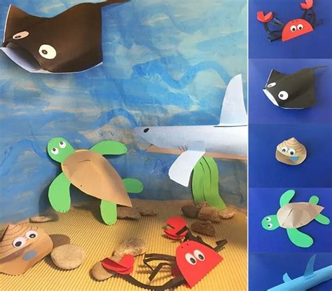 Paper Animals Craft - paper sea animals craft 171 funnycrafts