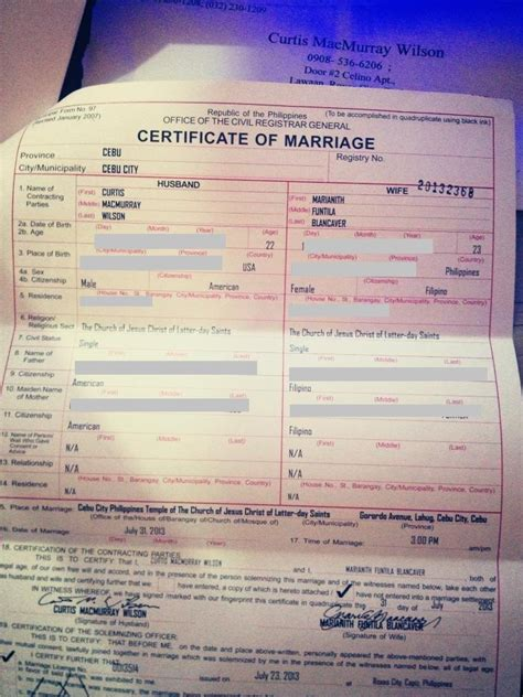 Marriage Records Philippines Marriage Certificate How To Get It Authenticated And