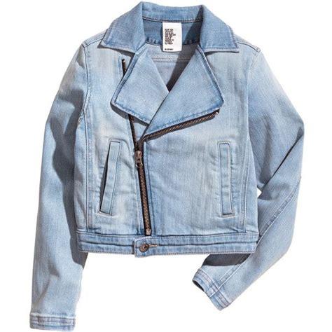 denim motorcycle jacket denim biker jacket 39 95 36 liked on polyvore