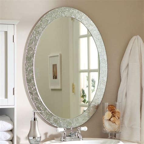 oval vanity mirrors for bathroom oval frame less bathroom vanity wall mirror with elegant