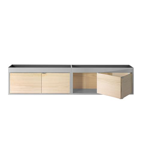 horizontal wall mounted cabinet new order wall mounted shelf by hay in the design shop