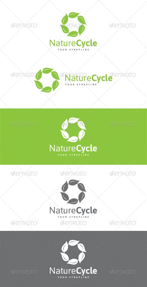 pattern energy group logo nature cycle logo graphicriver