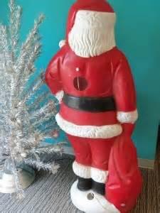 vintage jumbo 5 santa claus blow mold christmas light up