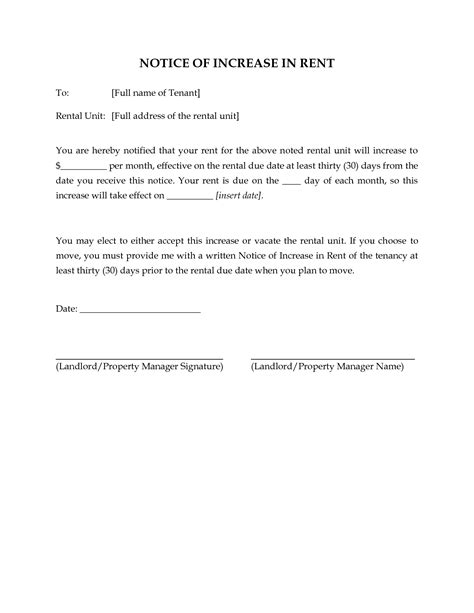 Rent Increase Letter Notice 10 Best Images Of Rent Due Notice Template Past Due Rent Notice Template Past Due Rent Notice