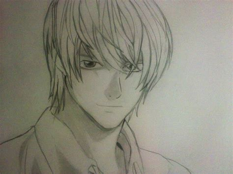 Note L Sketches by Light Deathnote Sketch By Ritunes On Deviantart
