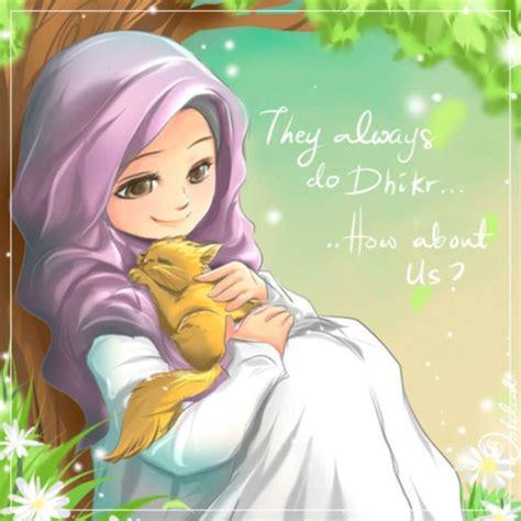 download film islami hijab 22 gambar kartun wanita muslimah anak cemerlang
