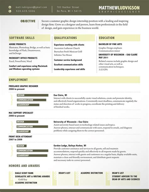 resume design this exle uses a unique yet functional