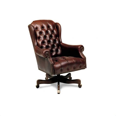 executive desk chair leather tufted leather executive office chair