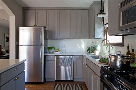 Ideas For Small Kitchens In Apartments 15 Inspiring Grey Kitchen Cabinet Design Ideas