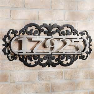 laroyal silver metal house number address plaque