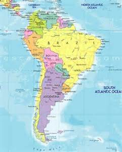 south america population map maps south america