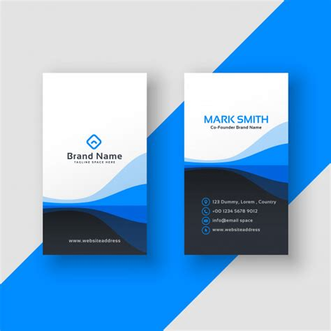 Verticle Business Card Template by Vertical Business Card Vectors Photos And Psd Files