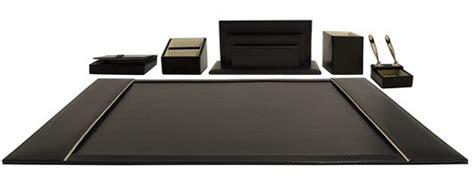 Executive Leather Desk Set by Grandluxe Executive Desk Set Genuine Leather Black