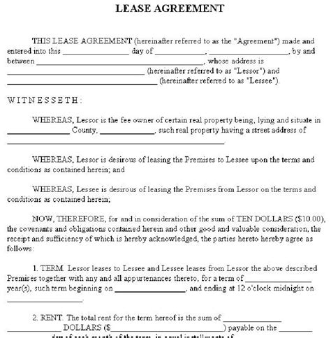 Agreement Letter For Rental House Sle House Lease Exle Images Frompo 1