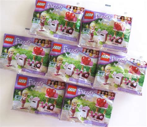 Lego Polybag Friends Mailbox Set 30105 lot of 7x lego friends 30105 mailbox favor wholesale new polybag