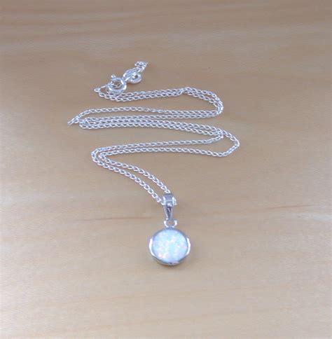 white opal 925 white opal pendant 18 quot sterlingsilver chain opal