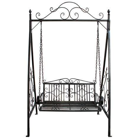 5 iron swing charles bentley wrought iron swing seat outdoor patio
